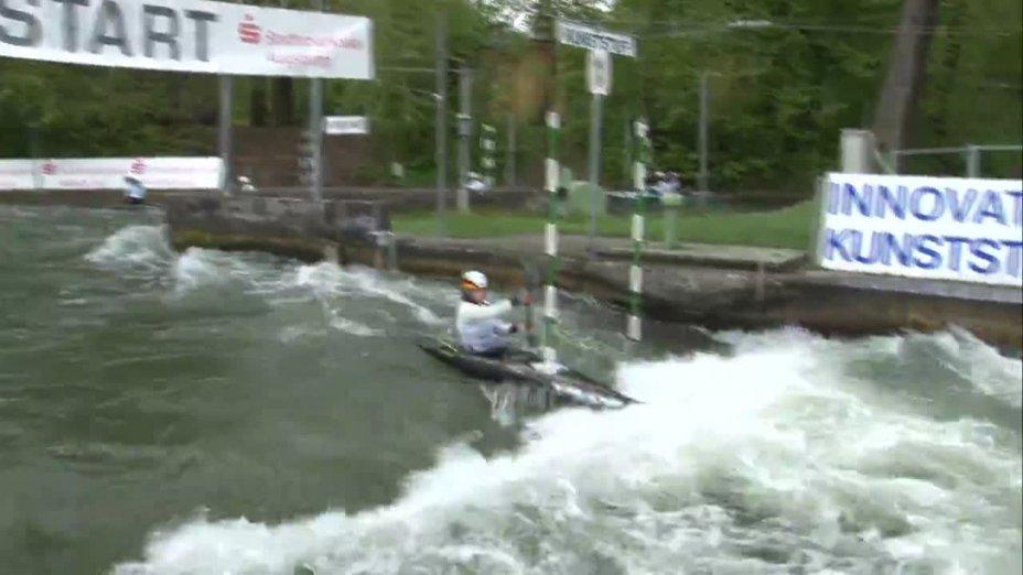 Anna Faber - Quali 2015  Rennen 3 K1-Damen-Finale / Augsburg