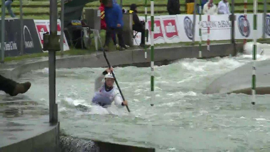 Caroline Trompeter - Quali 2015  Rennen 4 K1-Damen-Finale / Augsburg