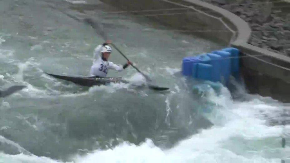 LEITNER LISA - FINAL Run   2015 ICF Canoe Slalom Ranking - Markkleeberg
