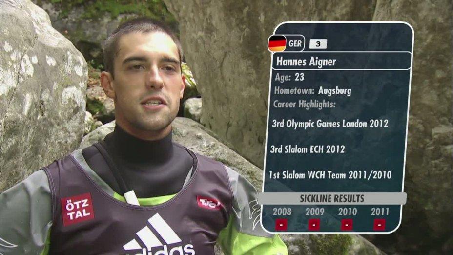 Sickline 2012 - Hannes Aigner in seinem Finallauf auf der Wellerbrückenstrecke